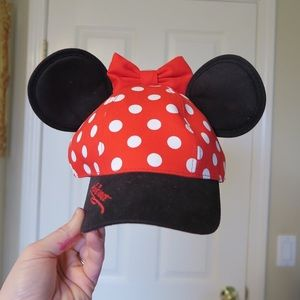 Youth Minnie Mouse ears hat